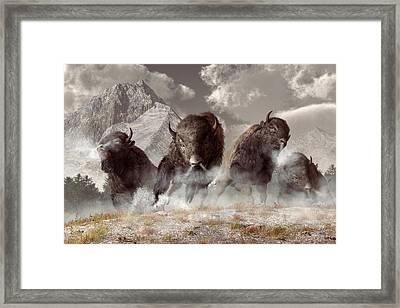 Buffalo Framed Print by Daniel Eskridge