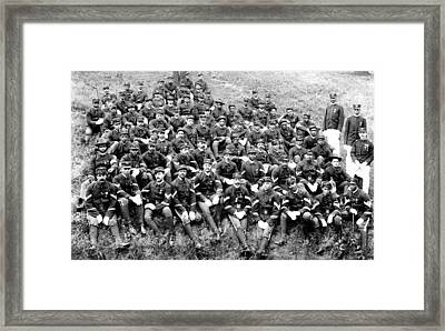 Buffalo Soldiers Of Company D, 8th Framed Print by Everett