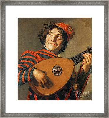 Buffoon Playing Lute 1623 Framed Print by Padre Art