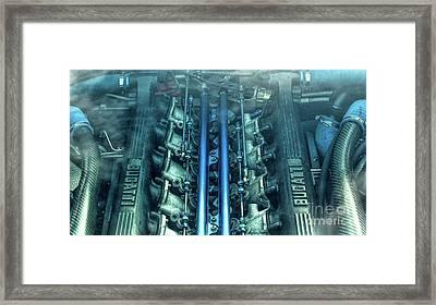 Bugatti Eb110 V12 Engine Framed Print by Tim Gainey