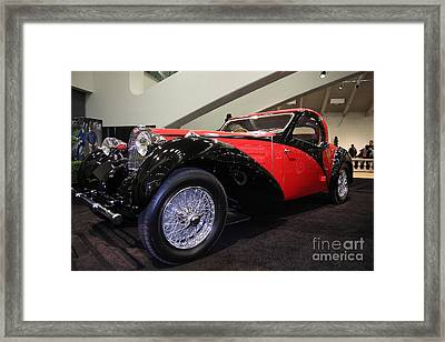 Bugatti Red Framed Print by Wingsdomain Art and Photography