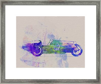 Bugatti Type 35 R Watercolor 2 Framed Print by Naxart Studio