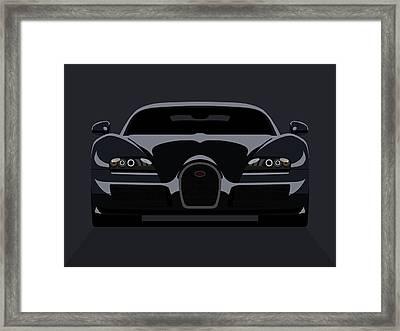 Bugatti Veyron Dark Framed Print by Michael Tompsett