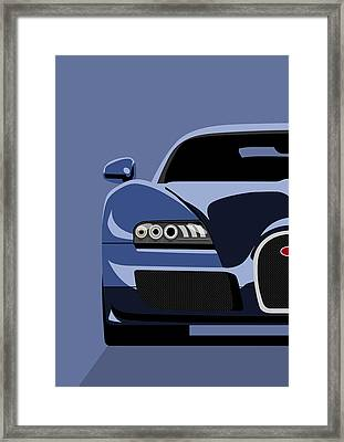Bugatti Veyron Framed Print by Michael Tompsett