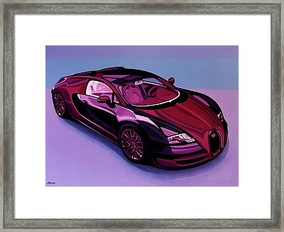Bugatti Veyron 2005 Painting Framed Print by Paul Meijering