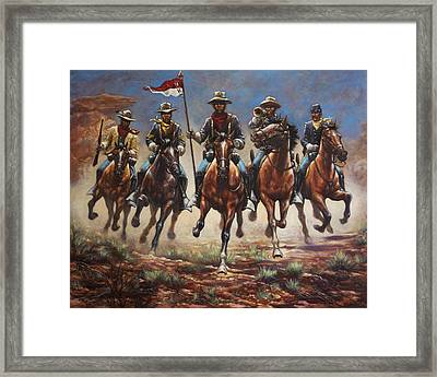 Bugler And The Guidon Framed Print by Harvie Brown