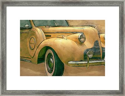 Buick Classic Framed Print by Jack Zulli