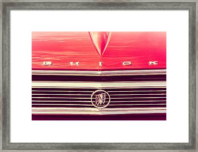 Buick Retro Framed Print by Caitlyn Grasso