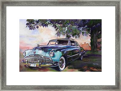 Buick Roadmaster Dynaflow 1949 Framed Print by Mike Hill