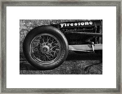Buick Shafer 8 Bw Framed Print by Peter Chilelli