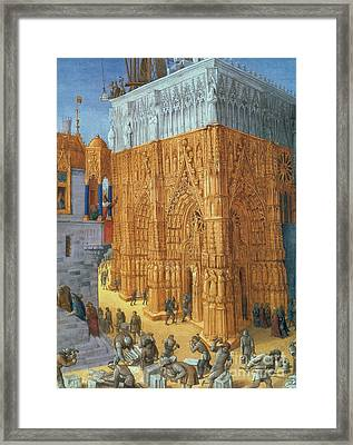 Building Of The Temple Of Jerusalem Framed Print by Science Source
