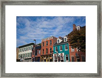 Buildings Along A Street, Thames Framed Print by Panoramic Images