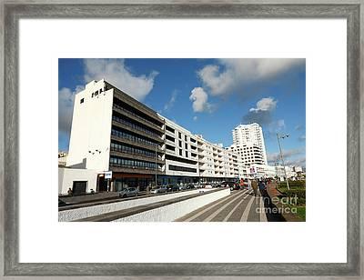 Buildings In Ponta Delgada Framed Print by Gaspar Avila