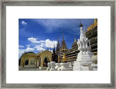 Built Structures Inside Shwezigon Pagoda Framed Print by Sami Sarkis