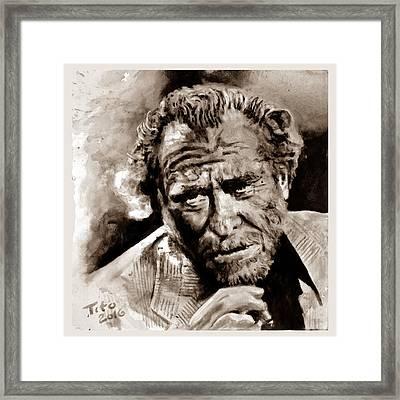 Bukowski  Framed Print by Richard Tito