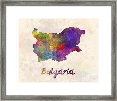 Bulgaria In Watercolor Framed Print by Pablo Romero