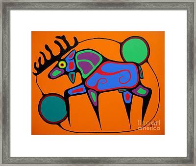 Bull Moose Framed Print by Jim Oskineegish