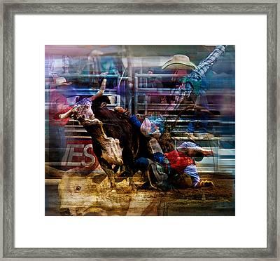 Bull Rider Framed Print by Mark Courage