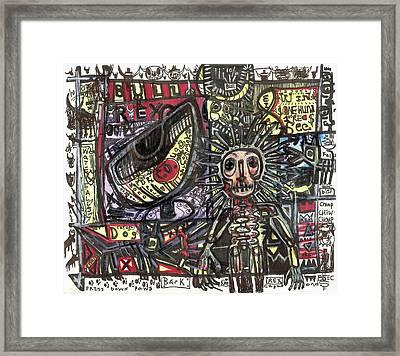 Bull Rider Framed Print by Robert Wolverton Jr