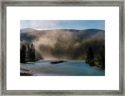 Bull River At Sunrise Framed Print by Darcy Michaelchuk