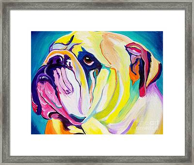 Bulldog - Bully Framed Print by Alicia VanNoy Call