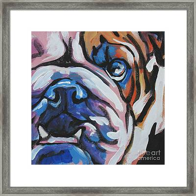 Bulldog Baby Framed Print by Lea S