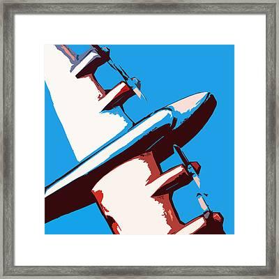 Bullet Plane Framed Print by Slade Roberts