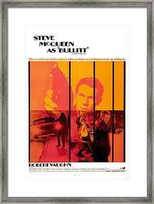 Bullitt, Steve Mcqueen, 1968 Framed Print by Everett