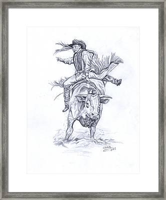 Bullrider Framed Print by Jana Goode