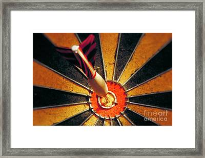 Bulls Eye Framed Print by John Greim