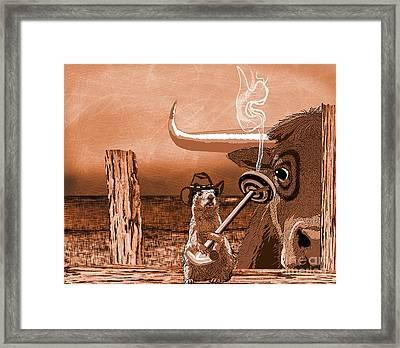 Bull's Eye Framed Print by Laura Brightwood