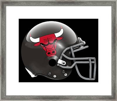 Bulls What If Its Football Framed Print by Joe Hamilton