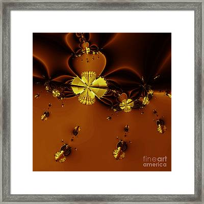 Bumble Beez Over Chocolate Lake . Square . S19 Framed Print by Wingsdomain Art and Photography