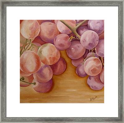 Bunch Of Grapes Framed Print by Angeles M Pomata