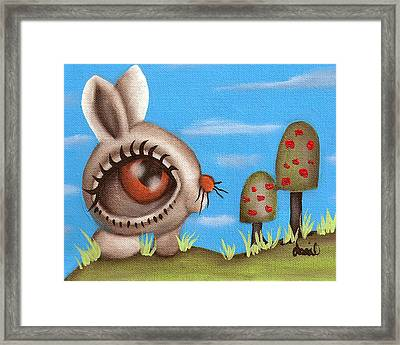 Bunny Bolita Framed Print by  Abril Andrade Griffith