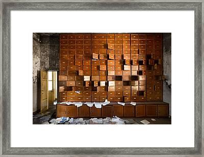 Bureaucracy Gone Wild - Urban Exploration Framed Print by Dirk Ercken