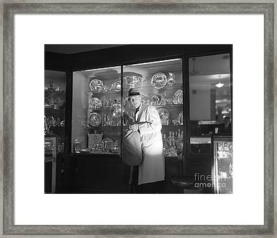 Burglar Caught In The Act, C.1960s Framed Print by Debrocke/ClassicStock