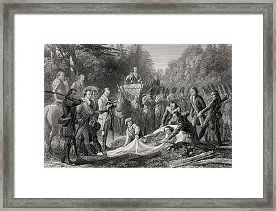 Burial Of General Edward Braddock In Framed Print by Vintage Design Pics