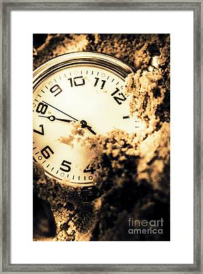 Buried By The Hands Of Time Framed Print by Jorgo Photography - Wall Art Gallery