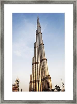 Burj Khalifa In Dubai Framed Print by Jelena Jovanovic