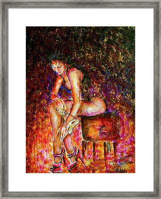 Burlesque I Framed Print by Nik Helbig