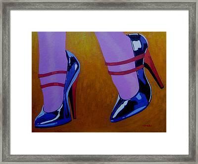 Burlesque Shoes Framed Print by John  Nolan