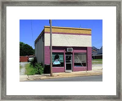 Burlington North Carolina - Small Town Business Framed Print by Frank Romeo