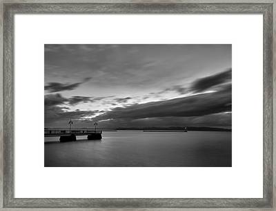 Burlington Pier Framed Print by Mike Horvath