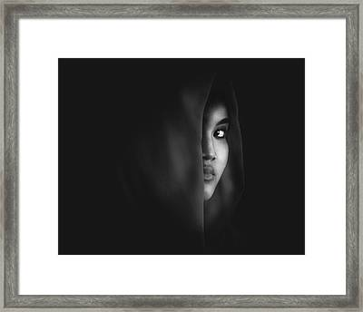 Burn Eye Framed Print by Ivan Marlianto