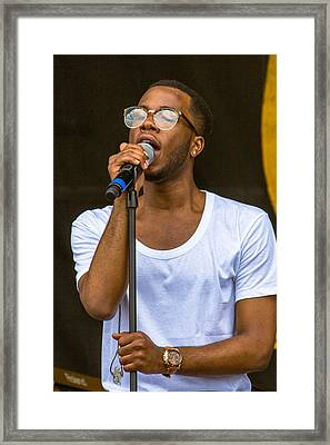Burnell Taylor At 2014 Jazz Fest Framed Print by Terry Finegan