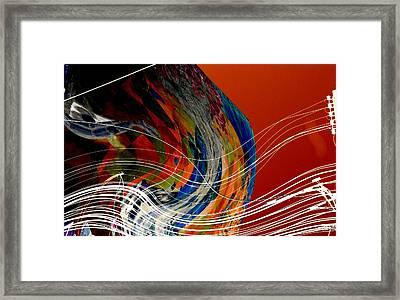 Burning City Sunset Framed Print by Thibault Toussaint