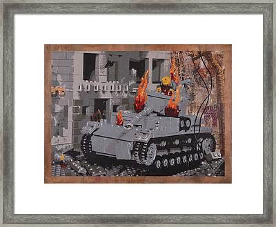 Burning Panzer Iv Framed Print by Josh Bernstein