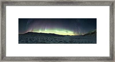 Burning Sky Framed Print by Tor-Ivar Naess