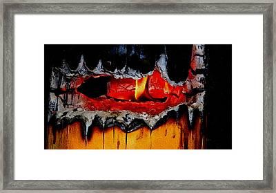 Burning Stump H B Framed Print by Gert J Rheeders